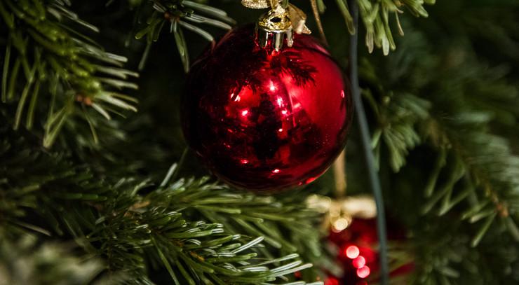 Julekugle på træ