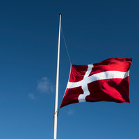 flag pa° halv  DSC8758